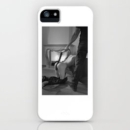 Photograph Bdsm style with a man and a nude woman iPhone Case