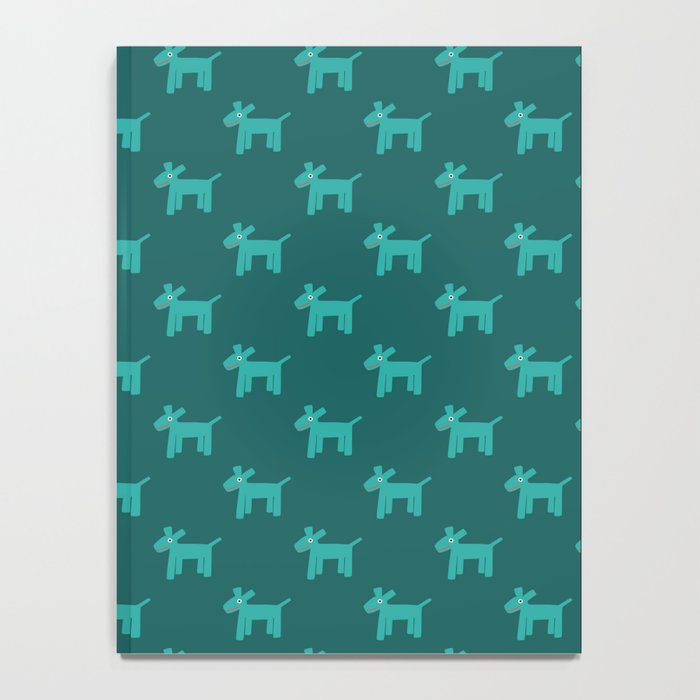 Dogs-Teal Notebook