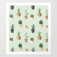 succulents Art Prints featuring Succulents  by Tasteful Tatters