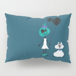 Extraterrestrial girl and her pet Pillow Sham