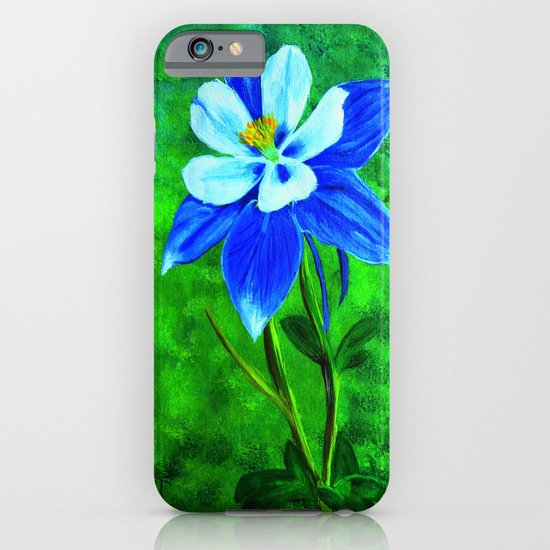 Blue columbine iPhone & iPod Case