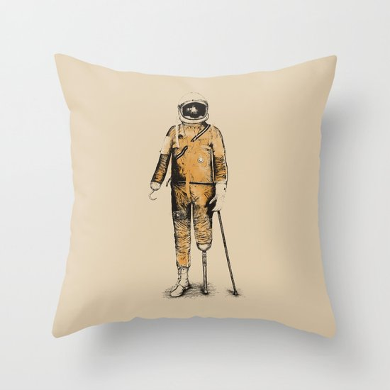 Astropirate (Watercolors) Throw Pillow
