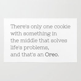 Oreo solves life's problems - TV Show Collection Rug