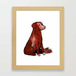 Cocoa - Dog Watercolour Framed Art Print