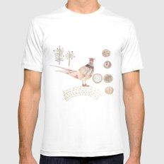 Decorative pheasant White Mens Fitted Tee MEDIUM