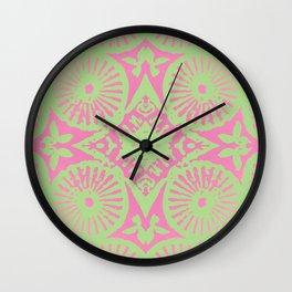 flower power: raspberry & lime Wall Clock