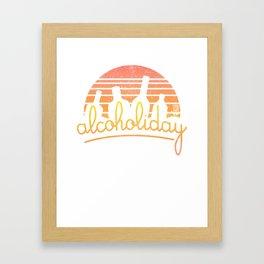 Alcoholiday Framed Art Print