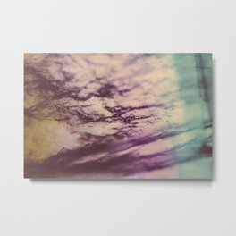 Purple Blue Fluorite from our Earth Metal Print