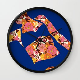 Back to Nature (Retro NZ Floral) Wall Clock