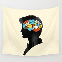 doctor Wall Tapestries featuring Doctor Phrenology by Wharton