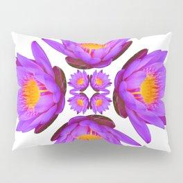 Purple Lily Flower - On White Pillow Sham