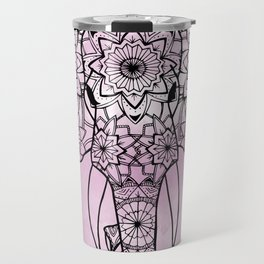 Elephant Pink Illustration Travel Mug