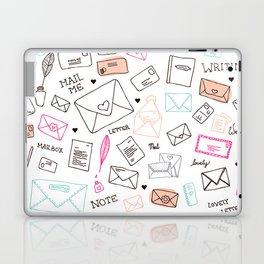 Love letter illustration pattern design Laptop & iPad Skin