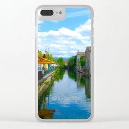 L'Isle-sur-la-Sorgue France River Cafe Clear iPhone Case
