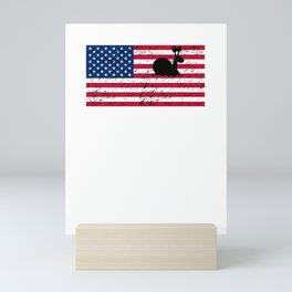 Snail Patriotic American Flag Mini Art Print