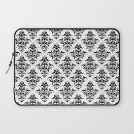 Damask Pattern | Black and White Laptop Sleeve