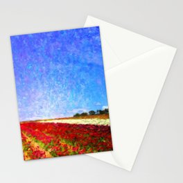 Spring Flower Fields - Help Fund Education for Impoverished Kids in Malawi, Africa @MoreThanAid Stationery Cards