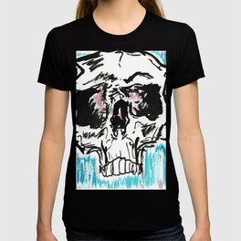 Red white and blue skull T-shirt