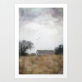The Little White Barn Art Print