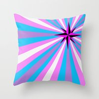 queer Throw Pillows featuring Queer Trans Anarchy Flag by Wolfy