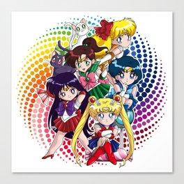 Sailor Moon - Chibi Candy (white edition) Canvas Print