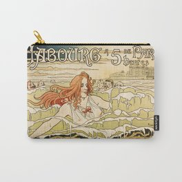 Cabourg Paris Beach art nouveau travel ad Carry-All Pouch