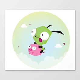Invasor Zim Canvas Print