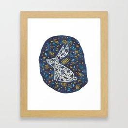 Lapin Hiver Framed Art Print