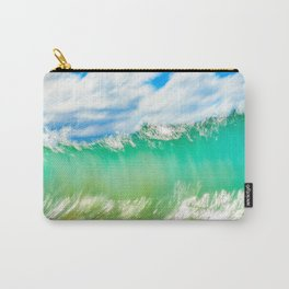 Slow shutter of wave in Maui Carry-All Pouch
