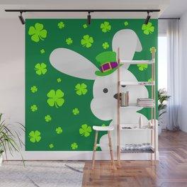 ST. PATRICK'S DAY BUNNY (abstract animals nature flowers happy irish, patricks) Wall Mural