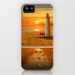 The view above and under water iPhone Case