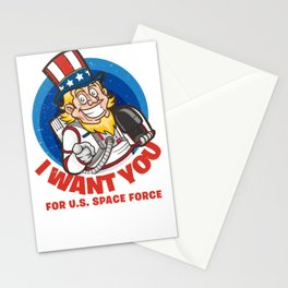 US Space Force I Want You Uncle Sam Stationery Cards