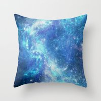 lunar Throw Pillows featuring Lunar by TenelArt