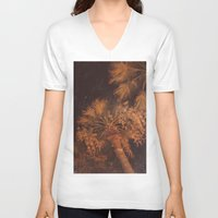 palms V-neck T-shirts featuring Palms by anasu