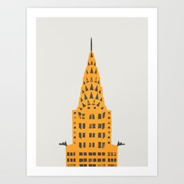 Chrysler Building New York Art Print
