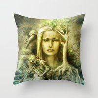 norway Throw Pillows featuring Norway by Holly Carton