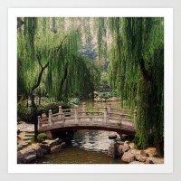 asian Art Prints featuring Asian Garden by MehrFarbeimLeben
