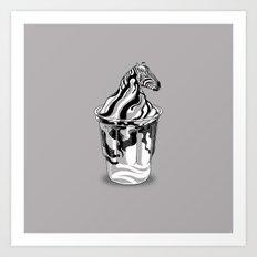 Zebra Sundae Art Print