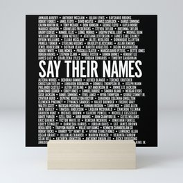 Say Their Names Activist Mini Art Print