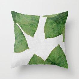 Banana Leaf I Throw Pillow