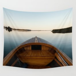 Summer Mornings On The Lake Wall Tapestry
