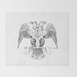 Two-headed eagle as Masonic symbol Throw Blanket