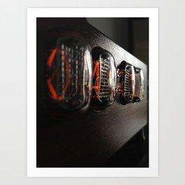 Nixie clock Art Print