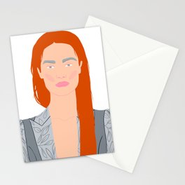 Rad hair business woman Stationery Cards