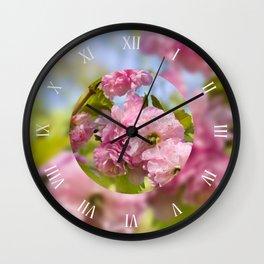 Almond blossoms sotf pink Wall Clock