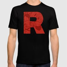 TEAM ROCKET Black 2X-LARGE Mens Fitted Tee