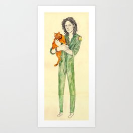 Ellen Ripley with Jones | Alien Art Print