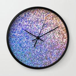 Glitter Rainbow Wall Clock