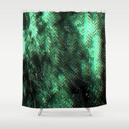PRETTY CHAOTIC HERRINGBONES Shower Curtain
