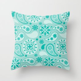 Bohemian Dream in Turquoise Throw Pillow